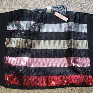 Victoria Secret big sequined tote bag